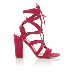 Shoes - Gianvitto Rossi Pink Suede Sandals